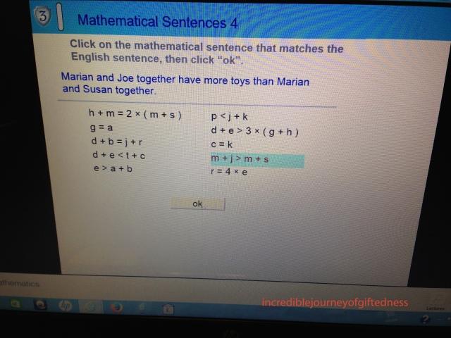 Mathmatical Sentences